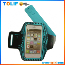 2015 mobile phone outdoor sport led light running arm band case for iphone 5s 6s 6 plus samsung s6