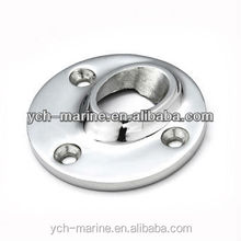 S11762A Boat Stainless Steel 45 degree Rectangular Rail Base/Marine