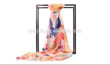 mais recente projeto primavera verão logo impressão lenço de seda china wholesale 2014 u um lenço e e importadores