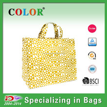 Green pp woven resuable shopping bag, laminated resuable bag