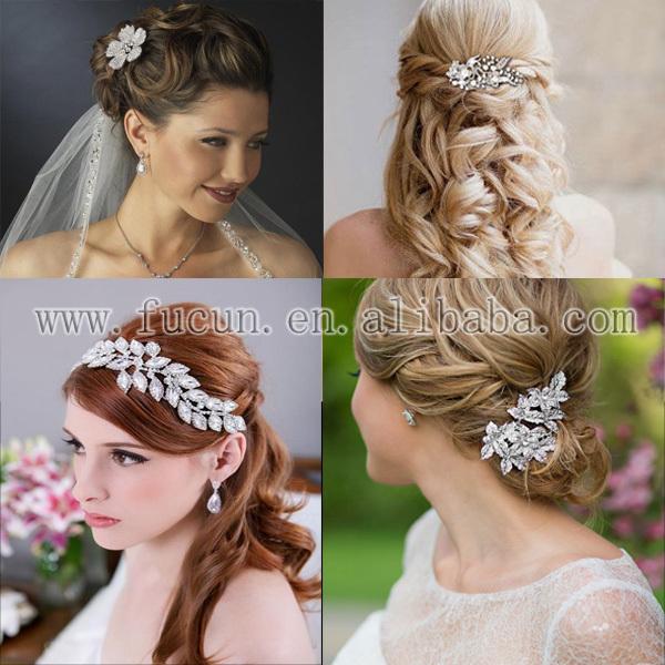 rhinestone bride comb appliques