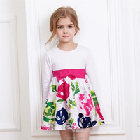 Latest Flowers Decoration Party Dress Baby Frock Designs Fancy