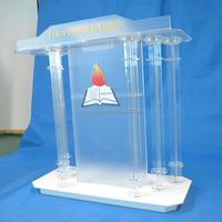 factory outlet sale customized acrylic lectern plexiglass church pulpit designs