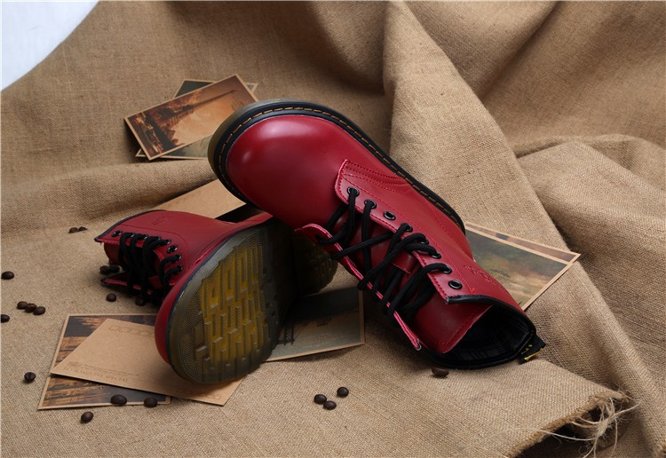 Dr Leather Ankle Boots Autumn/Winter Women Motorcycle Boots Martin Bot