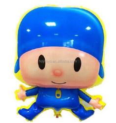 Pocoyo boy aluminum inflatable balloon for kids toys