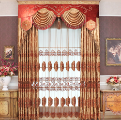 Latest High quality Custom hand embroidered curtain with european desgin
