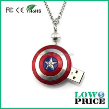 The Avengers 3D Fist Pewter pen drive 3.0 / 64gb Pendant Chain Metal Necklace usb flash drive