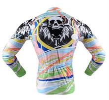 digital printed cycling jersey long sleeve