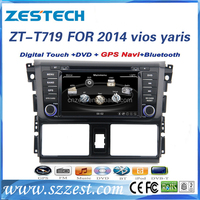 factory price movement car dvd player For TOYOTA vios yaris 2014 support 3G audio DVB-T MP3 MP4 HDMI DVD function