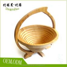 Examples of handicrafts custom round bamboo fruit basket