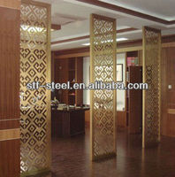 hot sale china decorative metal stainless steel screen partition fancy room dividers