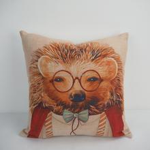 Custom square modern linen cushion cover mixed throw dog decoration cushion