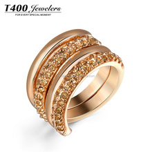 T400 Promotional Gift Fashion Jewelry Wholesale Gold Plating Ring