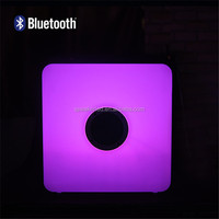 Patent Number Protected Cube Shape LED Lights Waterproof Wireless Bluetooth Speaker