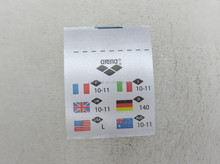 2015 high quality fashion colorfuil garment washing label,cloth wash label,cloth print tags
