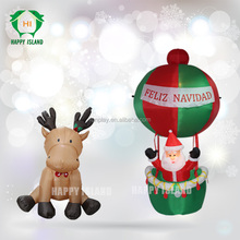 2015 Alibaba New Arrival Popular cheap outdoor christmas decorations ,mini inflatable christmas decoration