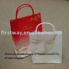 Plastic Clip Close Handle Gift Bag
