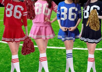 Long sleeved skirt female, hip hop dance jazz dance outfit, European and American football body football baby suit