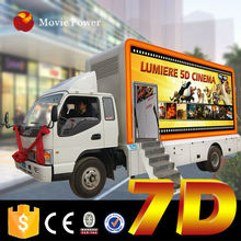 China sexi video vivid 7d mobile dynamic theatre truck mobile 7d cinema