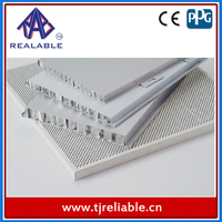 White Insulated Curved Aluminum Honeycomb Sheet Core Composite Wall Cladding/Panel