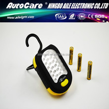AUTOCARE Dry Bettery Portable 24+3 Led Inspection Light Torch with Hook
