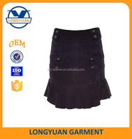 latest skirt design pictures leather falbala skirt
