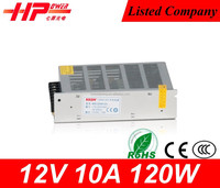 Universial input single output CE RoHs constant voltage 120 watt 10 amp 12 volts led power supply 12v