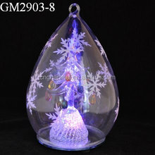 hotsell fashion christimas glass drip with snowflake on the face
