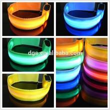 2015 nuevo diseño colorido parpadear correr al aire libre led de seguridad de las bandas de brazo