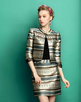 office uniform tops and skirts design 2014 woman suit