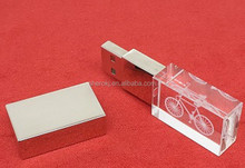 Nice design metal crystal usb flash drive with led light, usb flash memory, usb disk(VNUD-13)
