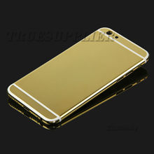 Wholesale real gold plated for iphone 6 gold housing