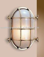 Polished Brass Oval Bulkhead Light