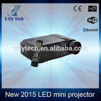 support 1080P full hd 3d led projector, cheap mini led projector mobile phone build with android wifi