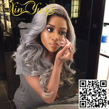 Fabulous quality full lace wig fashion gray human hair wig top selling fasion gray color hair wig best price for promotion!