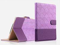 OEM manufacture Luxury design folio cover leather case for ipad air/air 2