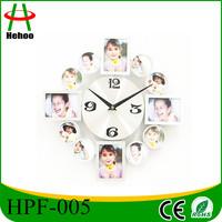 photo frame insert clock decorative wall clock