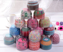 Hot Sale Mix 100pcs/set Cut Christmas, Birthday, Wedding Cake Decorating Tools Paper Muffin Cupcake Paper Baking Cups