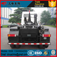 7.3Tons Dongfeng 4*2 hook arm garbage truck for sale