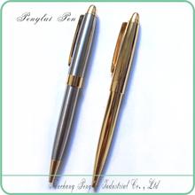 2015 logo pen luxury Gold twist ball pen metal promotional pen with logo