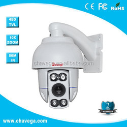 mini 4inch Full HD analog IR PTZ Dome Camera 360 degree pan&tilt 10X zoom