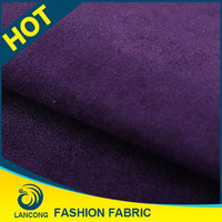 Shaoxing supplier Garment making use Wholesale double faced suede fabric