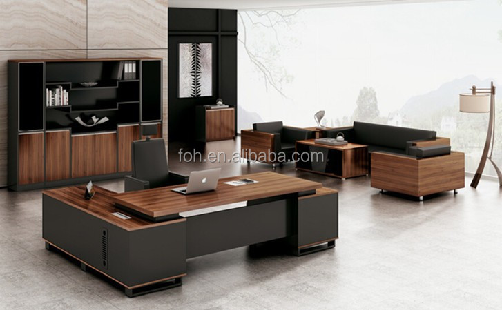 Elegant Modern Office Table Design/solid Surface Ceo Executive Desk