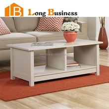 LB-VW5090 Living room wooden end table white MDF coffee tables for sale