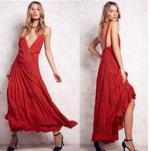 Deep v neck ladies maxi bare back cocktail dresses, tea party dress designs