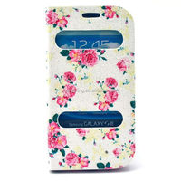 Beautiful leather case for Galaxy S3, Window View Stand case pouch for Samsung Galaxy S3