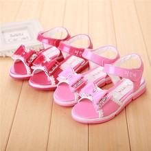 VT298 Wholesale hot sale cute bowknot beautiful girls no heel sandals