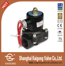 Straight moving type solenoid valve for water, oil, gas
