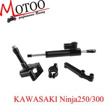 Motoo - Hyperpro CNC Steering Damper Set for Kawasaki EX NINJA 250R 2008-2012 with bracket kits
