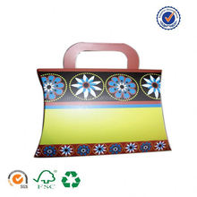 U color custom made pillow box for packing christmas gift